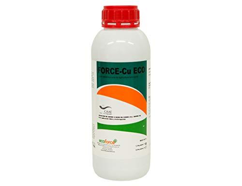 CULTIVERS Force CU de 1 l. Abono Fertilizante con Efecto Fungicida de Cobre Ecológico Que Mejora el Sistema de Defensa de la Planta contra el Desarrollo de Enfermedades, ECO10F00044