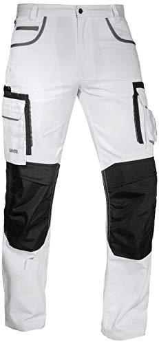 Uvex Tune-up 8909 Pantalon de Trabajo para Hombre - Pantalones Cargo para Trabajar de Algodón y de Cordura - Multibolsillos - Bolsillo de las Rodilleras - Color Gris, Negro, Azul, Verde, Blanco