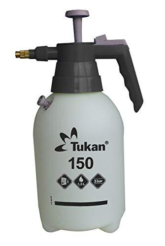 Tukan 150, pulverizador de presión de 1,5 litros con Boquilla de latón Ajustable y válvula de presión