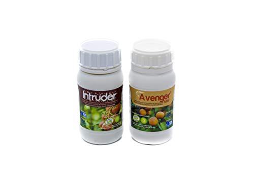 PACK AVENGER+INTRUDER®. Insectos/Trips/Larvas/Oruga/Pulgón/Hongos; efecto Bio Protector-fortificante polivalente-Fertilizante especial. Ecológico (2.200 m2)