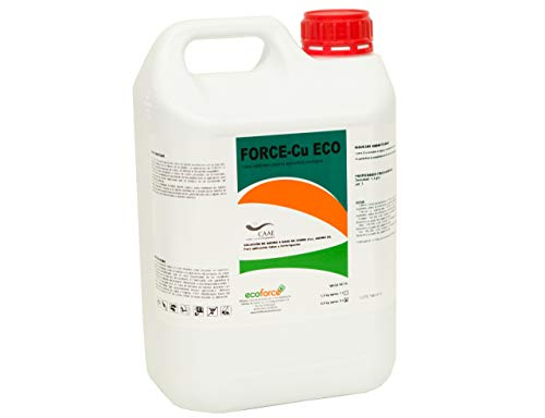 CULTIVERS Abono Fertilizante con efecto Fungicida de Cobre Ecológico de 5 L que Mejora el Sistema de Defensa de la Planta contra el Desarrollo de Enfermedades. Force CU