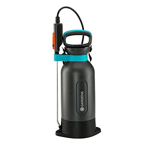 Rociador de presión de 5l Comfort de GARDENA: rociador a presión con plataforma integrada, mango de la lanza con función de bloqueo, correa para el hombro y válvula de descarga (11130-20)