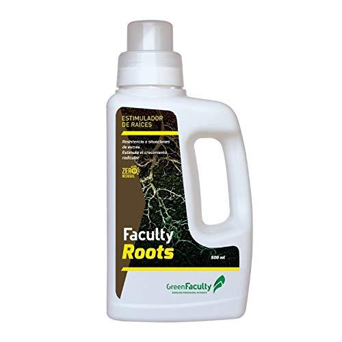 GreenFaculty Enraizante para esquejes. Faculty Roots: Estimulador Raíces Ecológico. Líquido. Cero Residuos, Apto para Cultivo Medicinal. Fertilizante Abono para esquejes (500 ml)