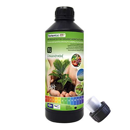 NortemBio Agro Reductor de pH Ecológico 1L. Uso Universal. Desincrustante de Sistemas de Riego. Cultivos con Mayor Sabor y Aroma.