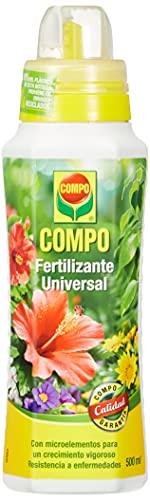 COMPO Fertilizante de calidad para plantas ornamentales de interior o terraza, Fertilizante líquido universal con magnesio, 500 ml