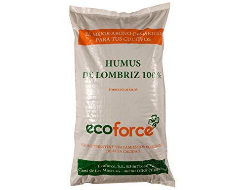 CULTIVERS Humus de Lombriz Ecológico 20 kg (40 L). Abono para plantas indicado para Tomates y Hortalizas. Fertilizante Orgánico 100% Natural. Reconstituyente del suelo