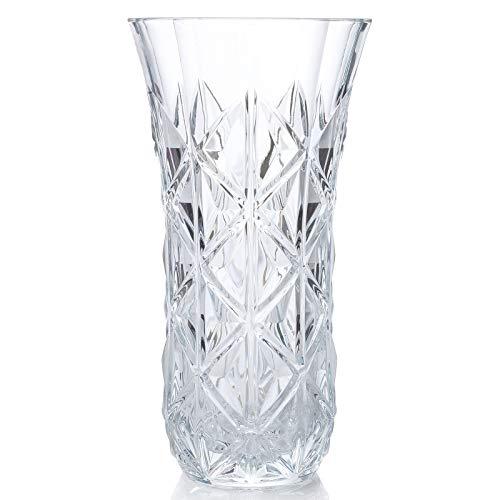 RCR Jarrón Decorativo de Cristal Luxion de la colección Enigma Flores de 30cm. Modelo: 26251020206, 30 cm