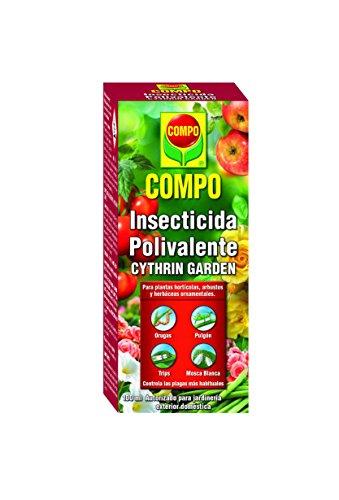 Compo Cythrin Garden Insecticida Polivalente, para Plantas hortícolas, arbustos y Ornamentales, Control de plagas más habituales, Apto para jardinería Exterior doméstica, 100 ml