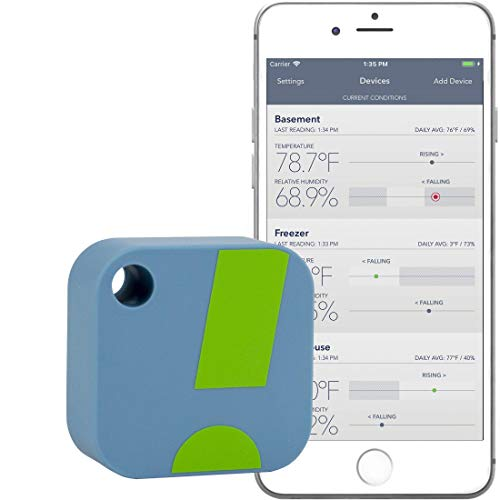 SensorPush Termómetro/Higrómetro Inalámbrico iPhone/Android – Sensor Inteligente de Humedad y Temperatura con Alarmas. ¡Aplicación Disponible en español!