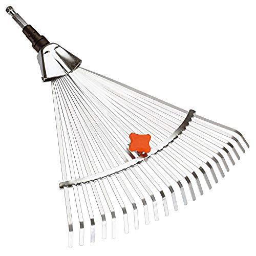 GARDENA Combisystem 3103-20 - Escoba graduable rastrillo con ancho de trabajo entre 30-50cm, accesorio recomendado para barrer hojas o césped cortado, combina con todos los mangos combisystem