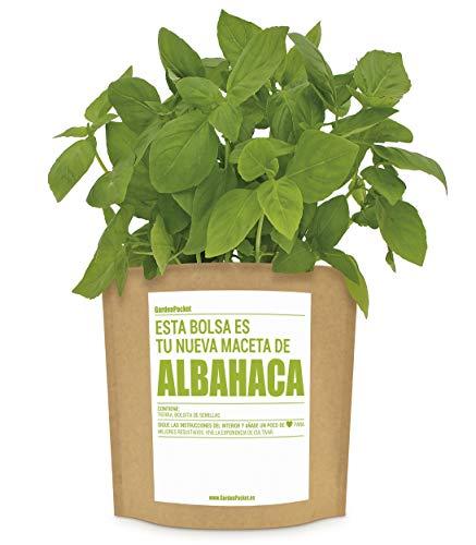 Garden Pocket - Kit de Cultivo de ALBAHACA - Bolsa Maceta