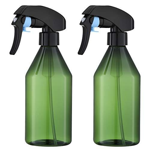 Toureal 300ml Botella de Spray Vacías Plástico (2 Piezas) Pulverizador de Disparo para Agua, Alcohol, Plantas (Verde)