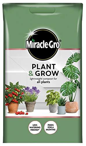 Miracle-Gro Plant & Grow - Compost ligero para plantas (6 L, fácil de transportar)