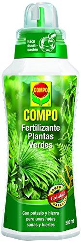 COMPO Fertilizante de plantas verdes para plantas de interior, balcón y terraza, Fertilizante líquido con potasio y hierro, 500 ml