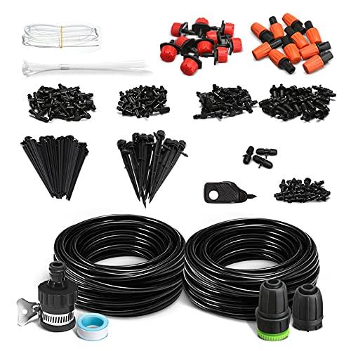 NASUM Riego por Goteo, Kit de Riego138 Piezas, DIY Sistema de Riego, Automatico Irrigazione Sistema per Giardino Serra Impianto
