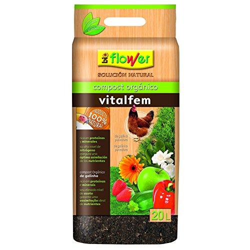 Flower 80126 80126-Compost orgánico, No aplica, 30x6x55 cm