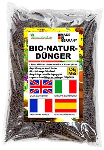 Humusziegel - 7.5 kg Pellets Gránulos Orgánicos de Estiércol de Caballo - Bio Fertilizante Organico Natural de Liberacion Lenta- Abono Natural para Vegetales/Hierbas/Flores