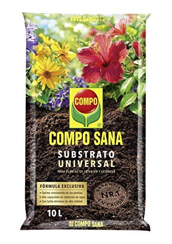Compo Sana Universal de Calidad para macetas con 12 semanas de abono para Plantas de Interior, terraza y jardín, Substrato de Cultivo, 10 L