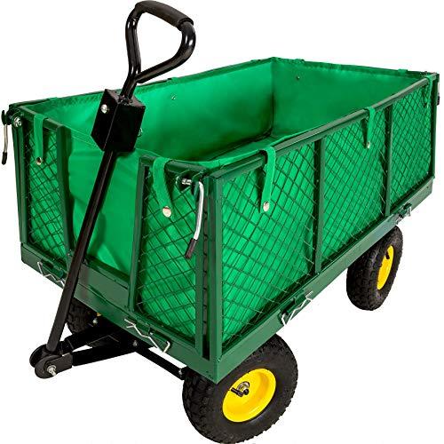 TecTake Carro de transporte carretilla de mano de jardin construccion max. carga 550 kg