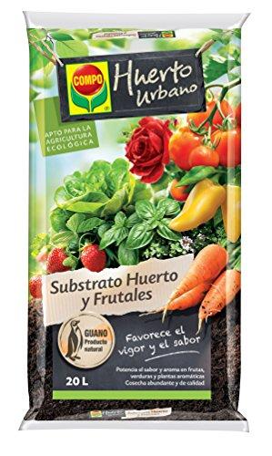Compo Universal para Frutas, Verduras, Plantas aromáticas y de Interior, Apto para Agricultura ecológica, Substrato de Cultivo, 20 L, 56 x 32 x 8 cm