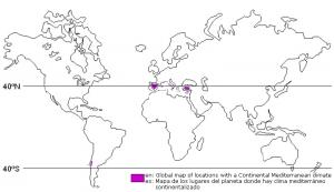 Dónde se ubica el clima mediterráneo geográficamente