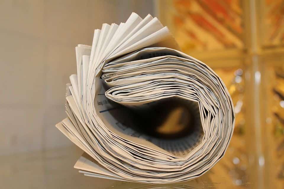 Periódico para secar semillas