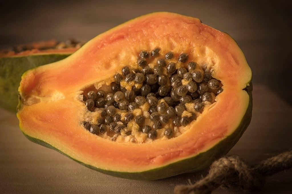 frutas tropicales papaya